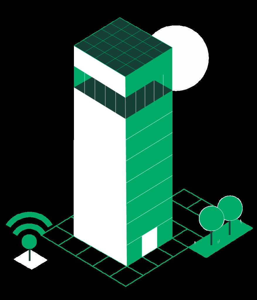 illustration d'un building intelligent