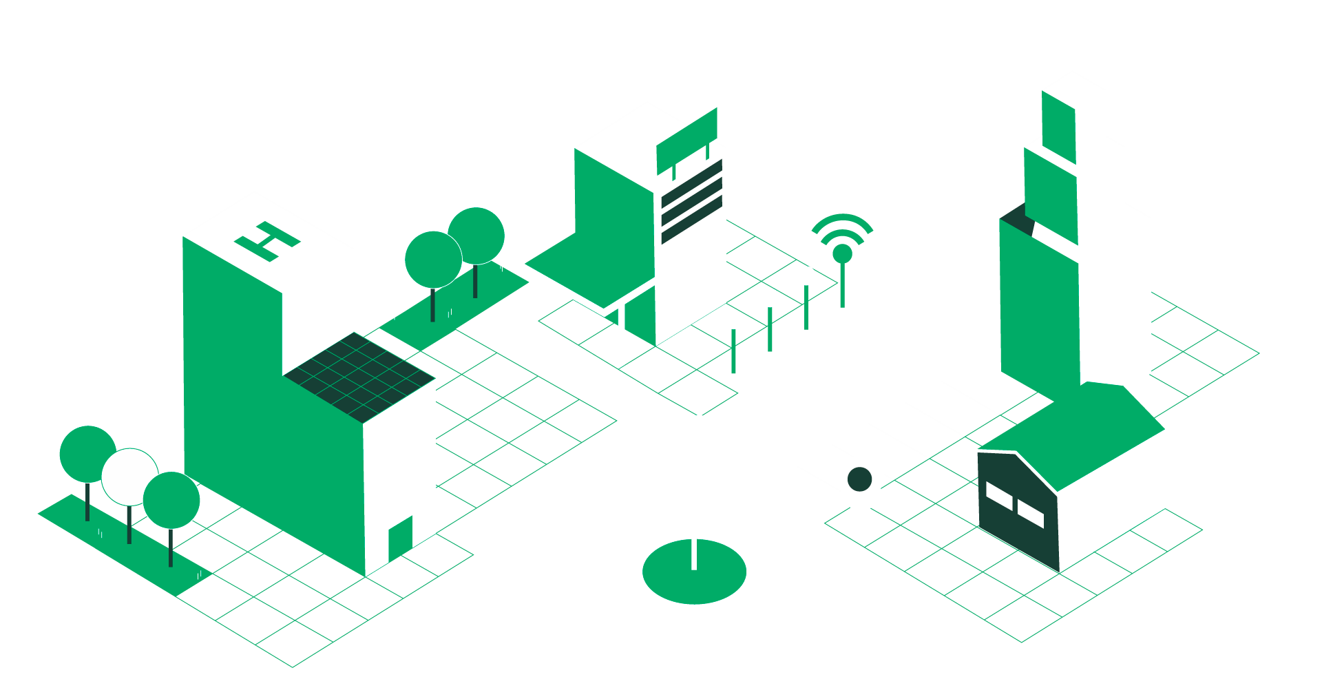 illustration d'une ville intéligente